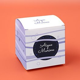 Impression packaging boite cube à savon