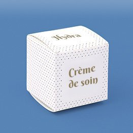 Impression packaging emballage crème cube
