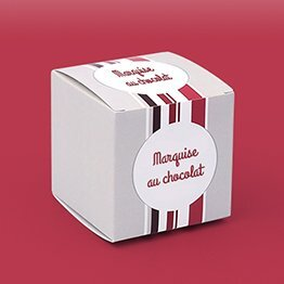 Impression packaging boite chocolat cube
