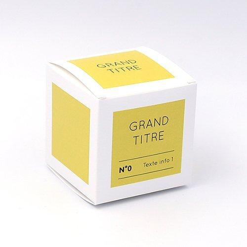 Packaging Boite cube Aplat jaune personnalisable