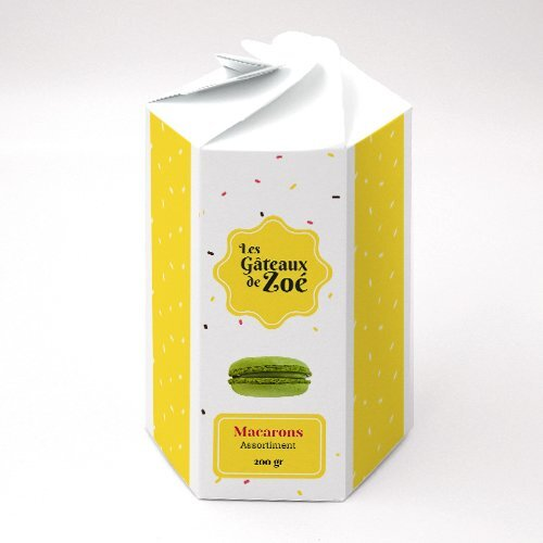 Packaging Boite pétales hexagonale Biscuit personnalisable