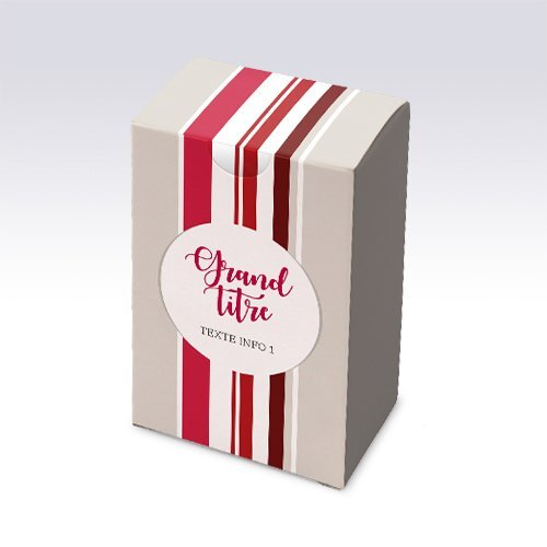 Packaging Boite rectangulaire Basque rouge personnalisable