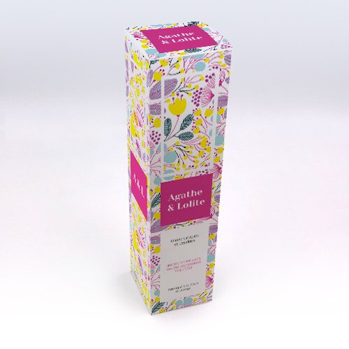 Packaging Boite rectangulaire Floral jaune personnalisable