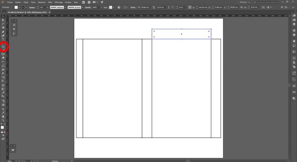 Créer un packaging avec Illustrator, élaborer les onglets
