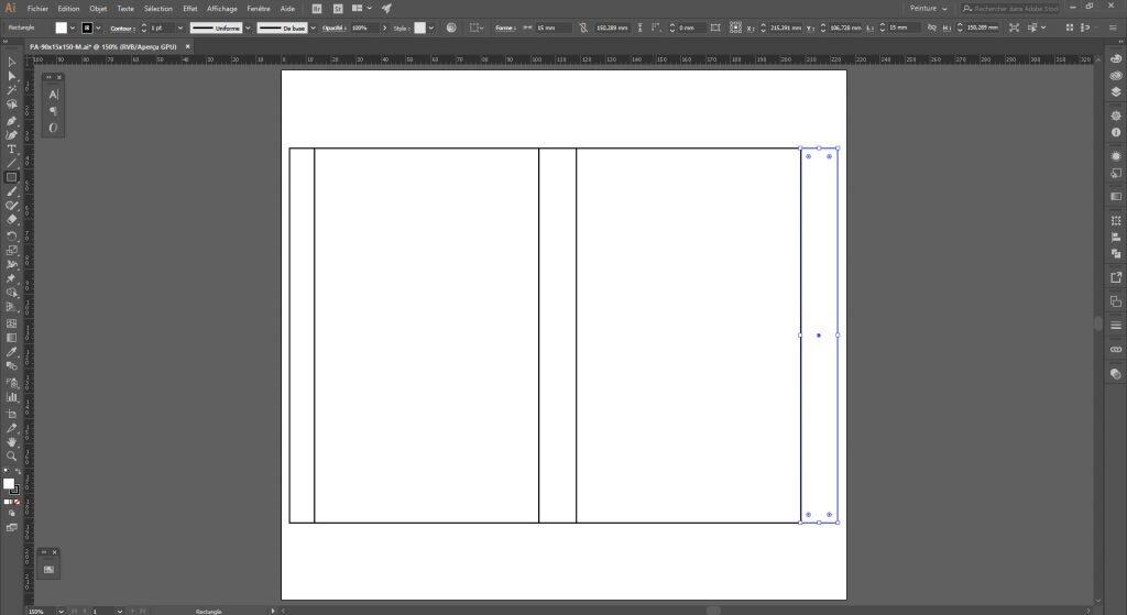 Créer un packaging avec Illustrator, dupliquer la forme de base