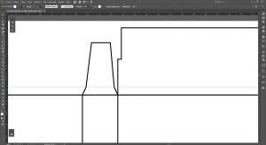 Créer un packaging avec Illustrator, onglets latéraux