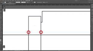 Créer un packaging avec Illustrator, onglets latéraux 2 cotés