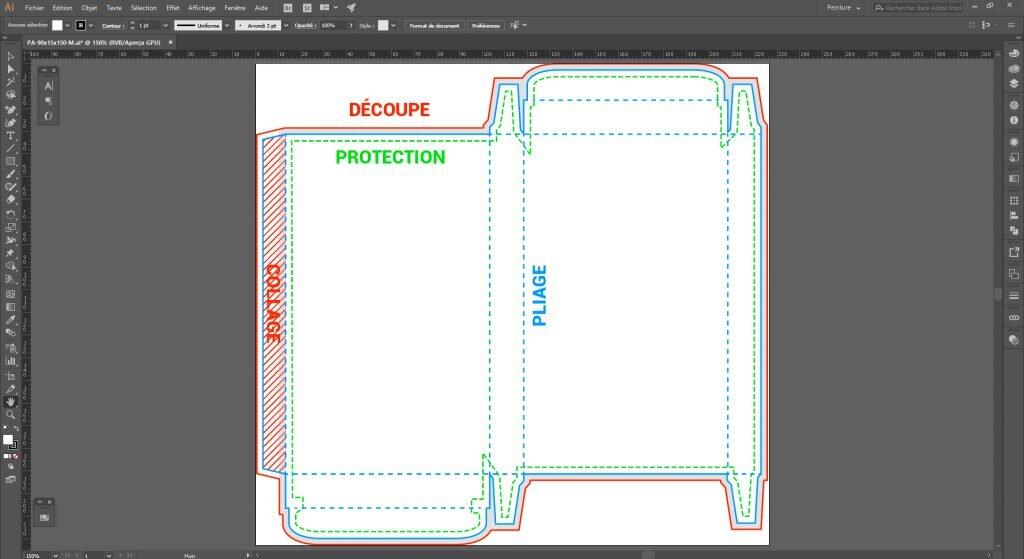 Créer un packaging avec Illustrator, préparation pour l'impression
