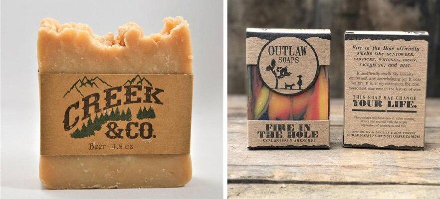 Savon et emballage savon original