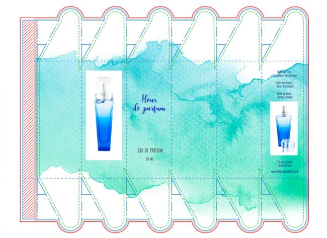 créer un packaging de boite pétale à partir d'un exemple existant