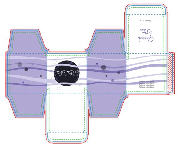 créer un packaging de boîte de produit du bain à partir d'un exemple existant