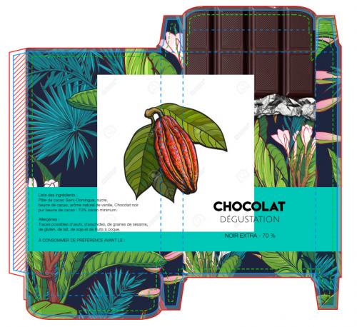 insérer une imag sur votre packaging de tablette chocolat