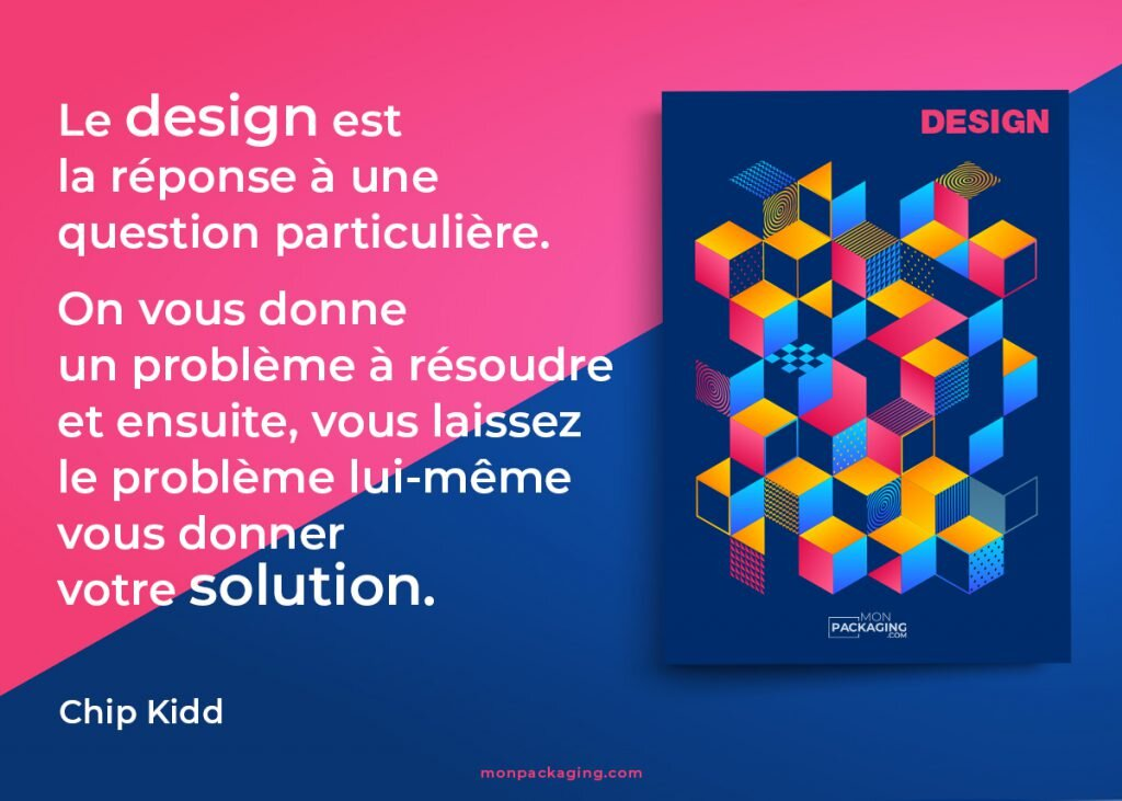 citation Chip kidd, idées de design de packaging