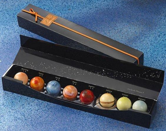Packaging chocolat planètes