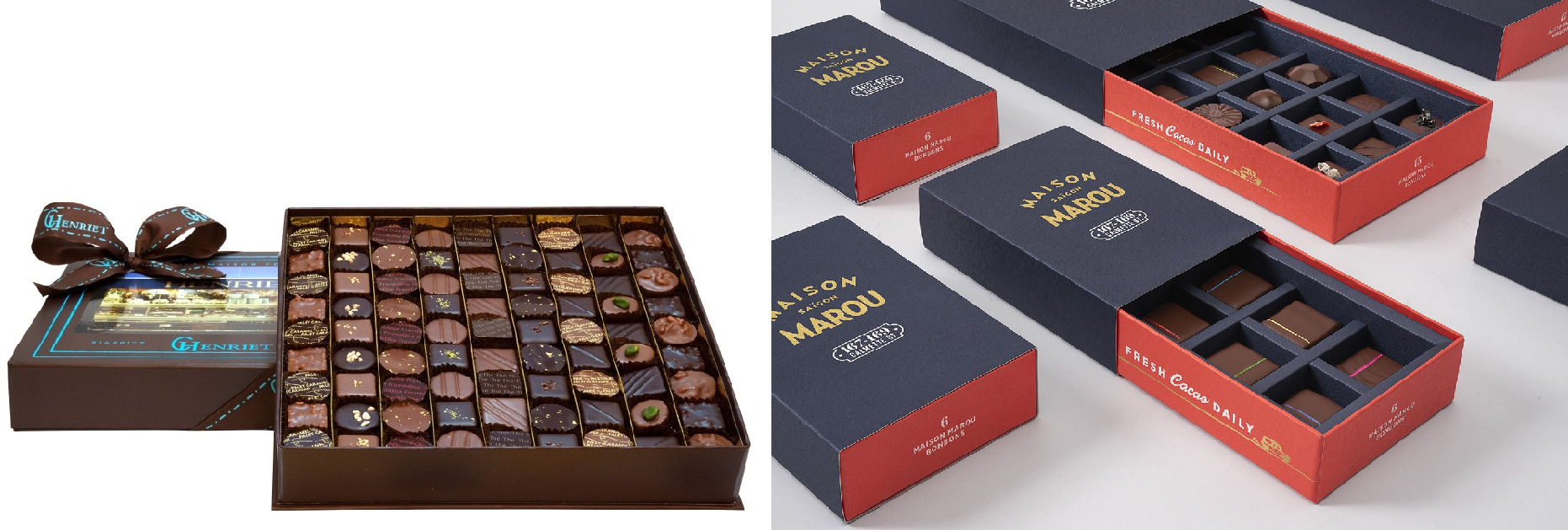 packaging chocolat coffret Marou