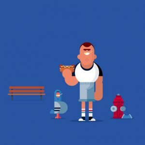 style flat illustration en emballage