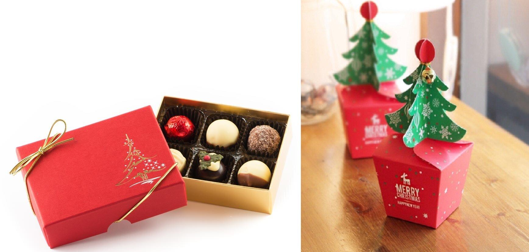 packaging chocolat sapin de noël