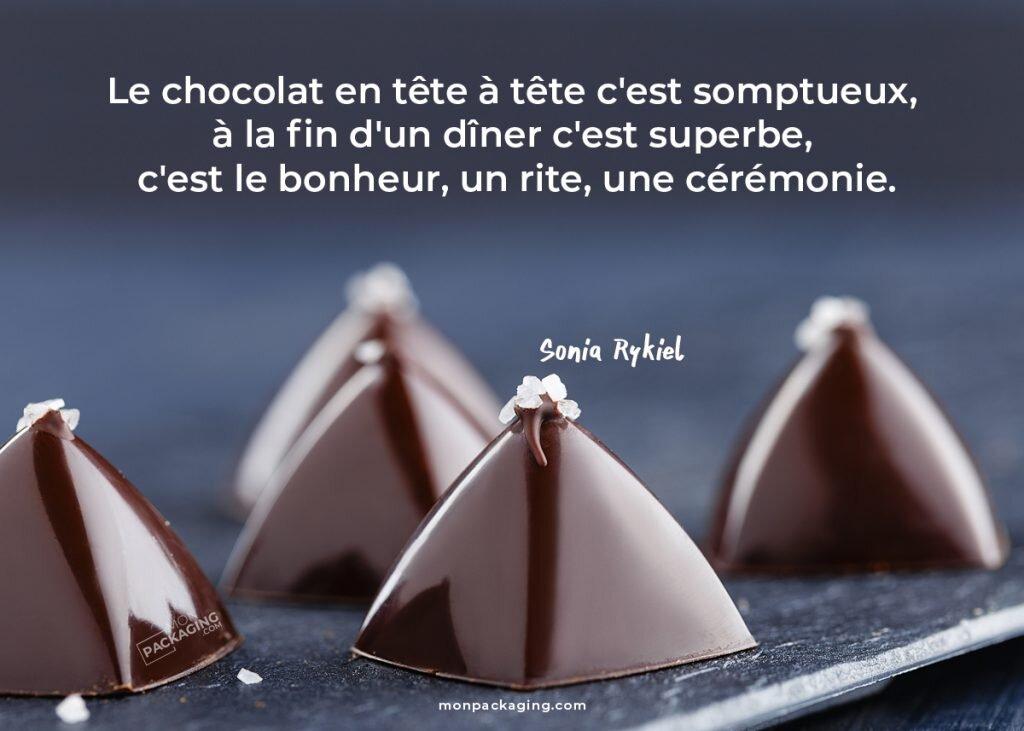 citation Sonia Rykiel chocolat