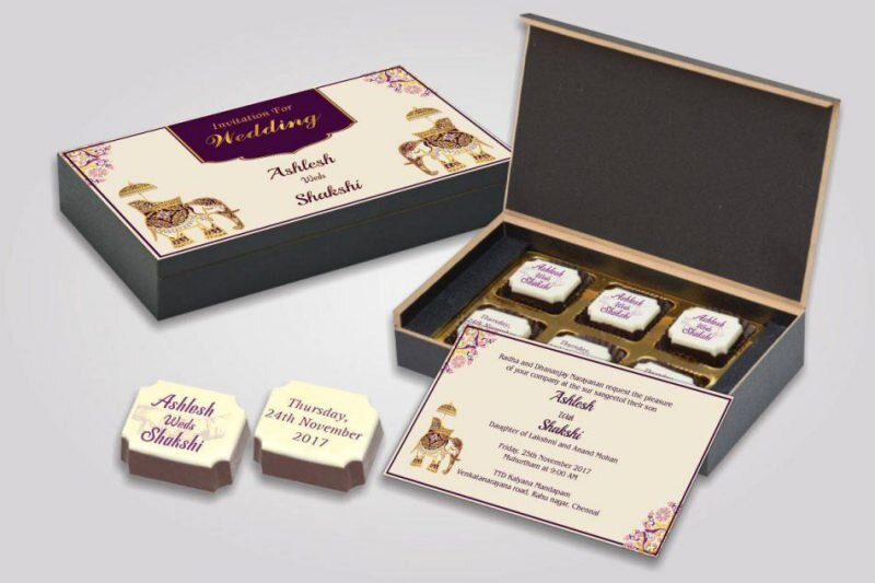Packaging chocolat pour mariage