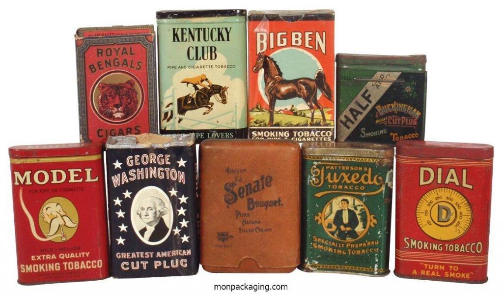Packaging, emballage Boîtes tabac