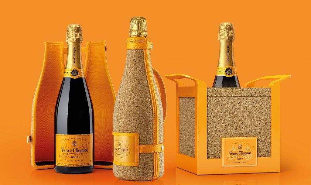 packaging et emballage champagne Veuve Cliquot