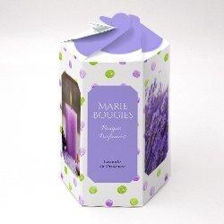 boite hexagonale carton fermeture petale
