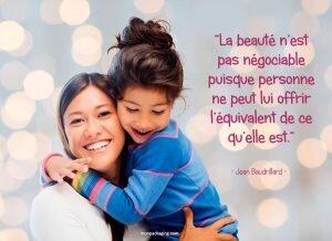 La beauté n'est pas négociable puisque personne ne peut lui offrir l'équivalent de ce qu'elle est.