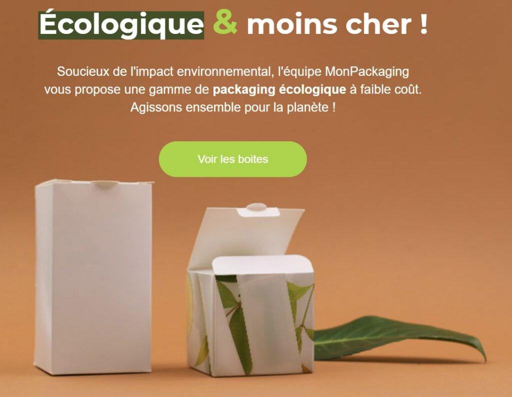 packaging et boite écologique MonPackaging