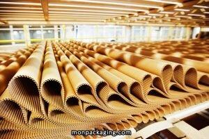 Le carton ondulé se compose d'eau et de fibre de cellulose