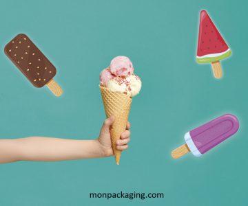Des packagings joyeux et colorés pour vos glaces maison !